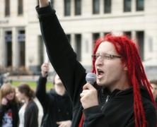 Aktivisten zum Beschnuppern