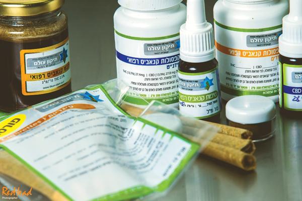 Produkte von Tikun Olam (Öle, Kapseln, vorgedrehte Joints, getrocknete Blüten, Speisen)